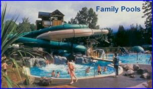 waterslides and fun activities for the kids
